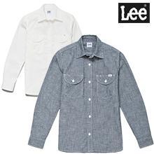 【Lee】シャンブレー長袖シャツ