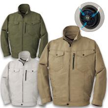 【空調風神服】BK6078半袖/6077長袖ジャケット+空調ファンセット