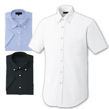 【動きやすいニットシャツ】ボタンダウンモクロディZシャツ(半袖)