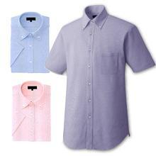 【動きやすいニットシャツ】ボタンダウンチェックZシャツ(半袖)