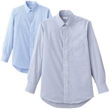 【本物の吸汗速乾】クールマックス®長袖ストライプシャツ