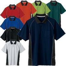 【JIS T8118適合】クールネック帯電防止ツートンポロシャツ(半袖)