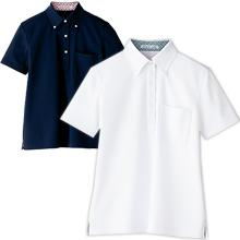 5023メンズ吸水速乾ポロシャツ(チェック)