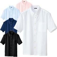 軽量ノーアイロンワッフルシャツ(半袖)
