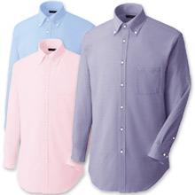 【動きやすいニットシャツ】ボタンダウンチェックZシャツ(長袖)