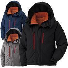 【耐水圧12,000mm】軽量防水フード付防寒ジャケット